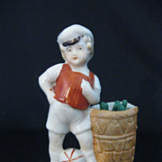 Vintage Porcelain Match Holder & Striker