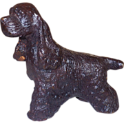 Vintage Heavy Metal Cocker Spaniel Dog Figurine