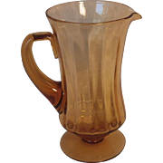 Hard to Find Vintage Fostoria Amber Glass Pitcher