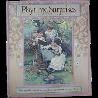 """Vintage Hardbound Children's Book - """"Playtime Surprises"""""""