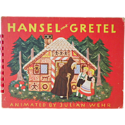 "Vintage Movable Children's Book - ""Hansel & Gretel"""