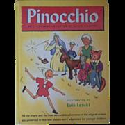 """Vintage Children's Book - """"Pinocchio"""""""