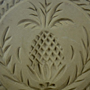 Vintage Brown Bag Cookie Art Pineapple Cookie Stamp