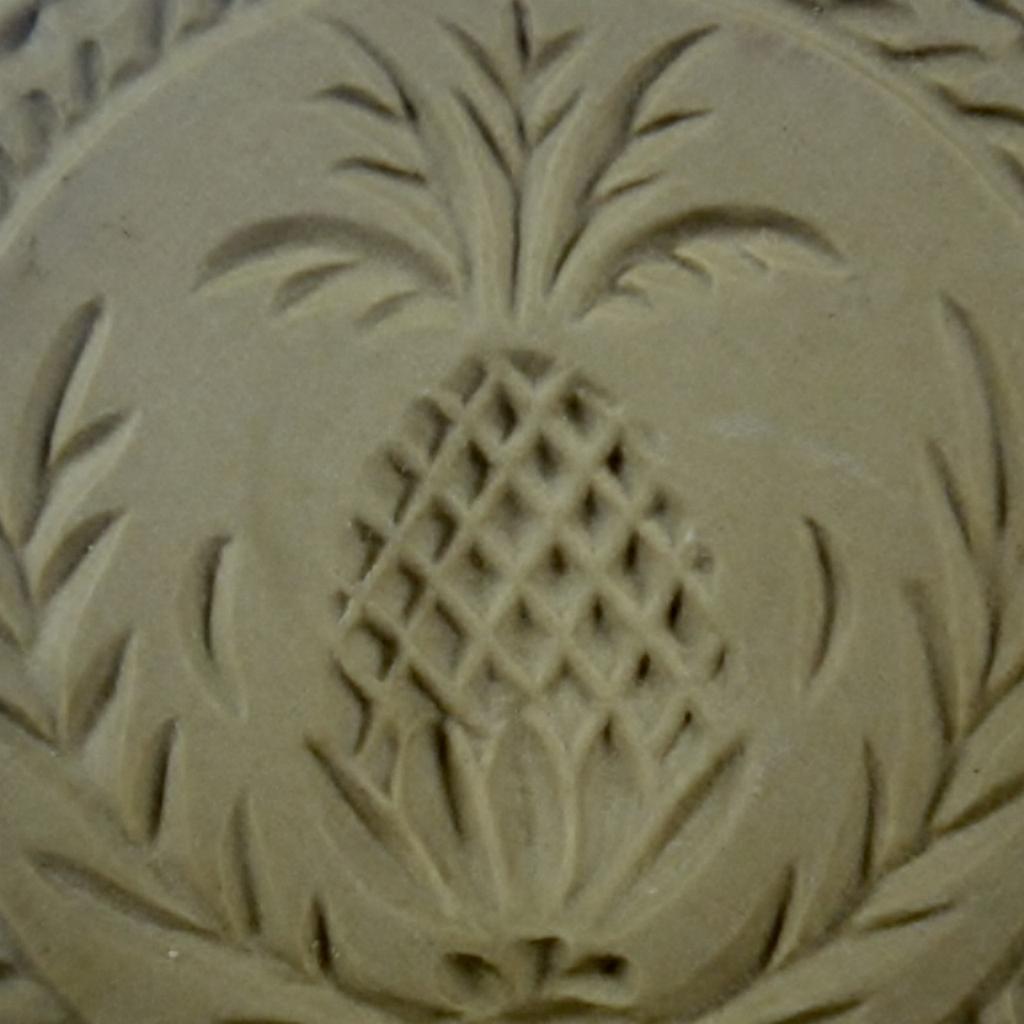 Vintage Brown Bag Cookie Art Pineapple Cookie Stamp