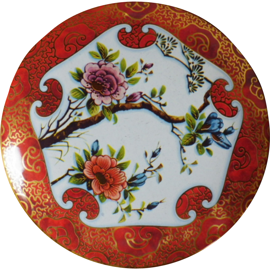Vintage Asian Theme Decorative Tin