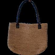 Vintage Woven Raffia Helen Kaminski Handbag