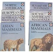 Vintage Ladybird Book Set of Seven Animals of the World Boos - Mammals