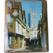 Vintage Canterbury England Decorative Pictorial Tin