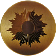 Vintage Unused Elgin American Sunburst Design Mirrored Compact