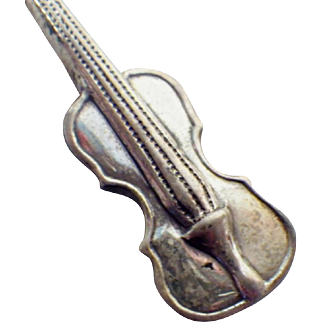 Vintage Tiny String Instrument Pin