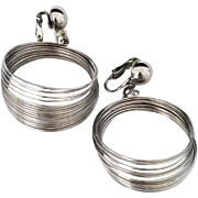 Vintage Silvertone Space Age or Slinky Earrings