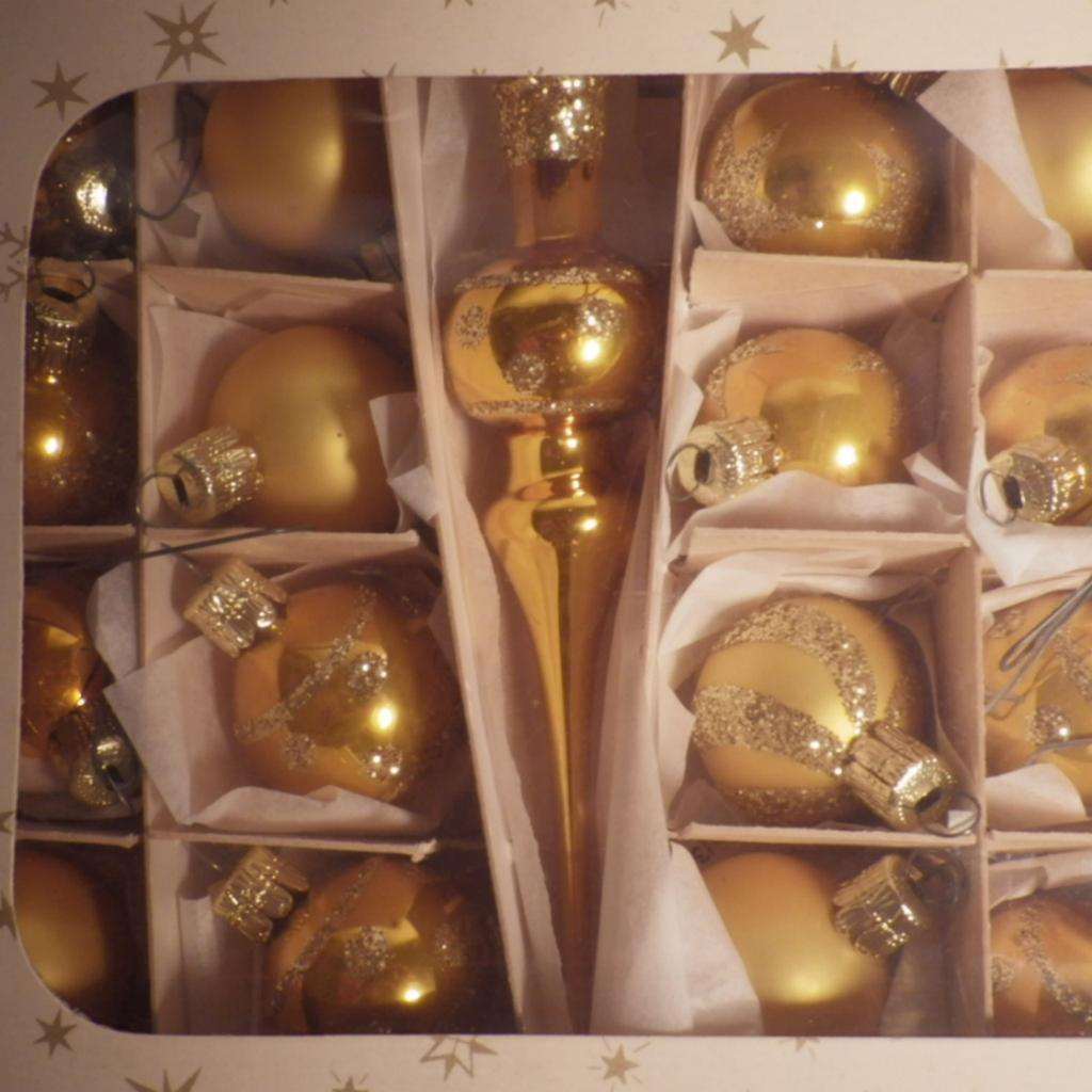 Vintage Set of Czech Glass Christmas Ornaments
