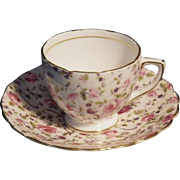 Scarce Rosina Bone China Chintz Cup & Saucer Set