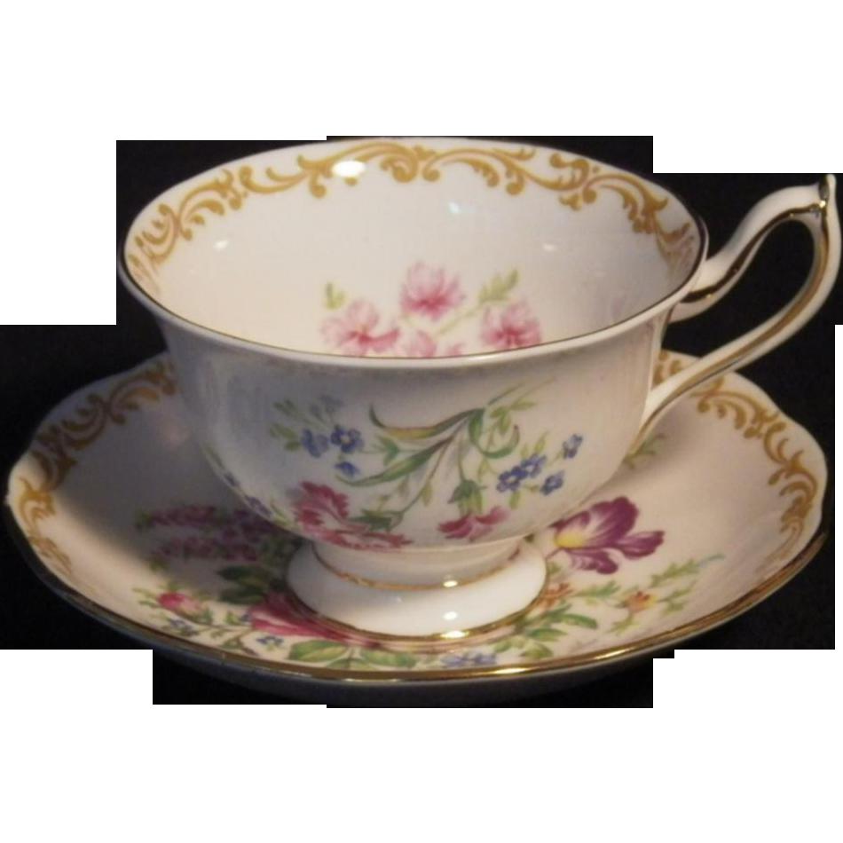 Vintage Royal Albert Nosegay Pattern Cup & Saucer