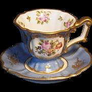 Vintage Hand Painted Demitasse Cup & Saucer Set