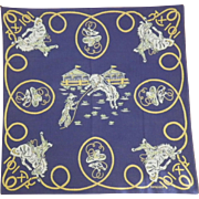"""Vintage Signed """"SWAGGER"""" Western Theme Handkerchief"""