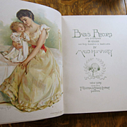 SUPERB Antique Victorian 1898 Maud Humphrey Baby's Record Baby Book Frederick A Stokes UNUSED