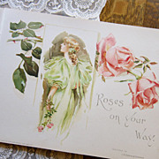 BEST * 1901 Victorian Wedding Book Roses on Your Way Paul De Longpre Style Roses Paul DeLongpre