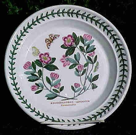 Portmeiron Bread & Butter Plate Botanic Garden 1972 Rhododendron