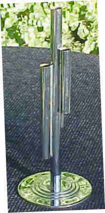 Chase 4 Tube Bud Holder 1930's Chrome Over Brass