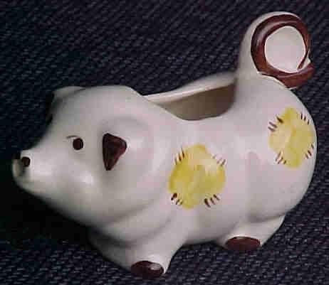 Ceramic Pig Creamer Vintage