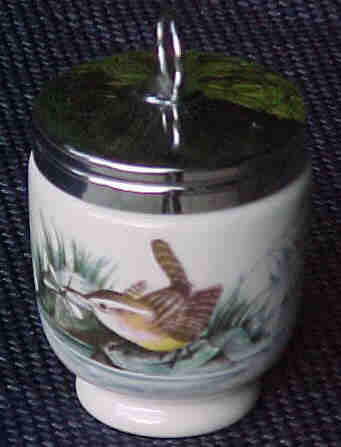 Royal Worcester Vintage Egg Coddler Bird Pattern