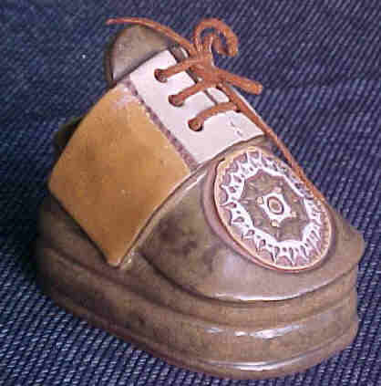 Shoe Planter Vintage Clay Cobbler Pottery