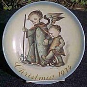 Hummel  Christmas 1974 Plate Guardian Angel