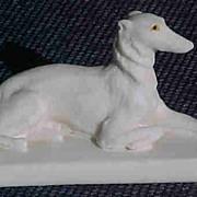 Borzoi Figurine Russian Wolf Hound vintage