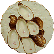 Antique Haviland Limoges Turkey Oyster Plate