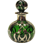 Gorham Sterling Silver Overlay Art Nouveau Perfume Scent Bottle