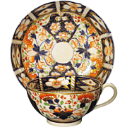 Circa 1810 English Derby Imari Cup and Saucer