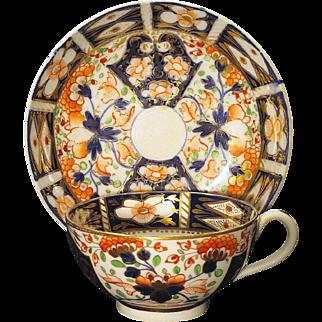 Circa 1810 English Derby Imari Cup and Saucer