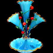 Mid-Century Venetian Italian Murano Art Glass Epergne