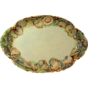 Antique Haviland Limoges Seafood Platter, Hand Painted Sea Shells Signed Dated - Red Tag Sale Item