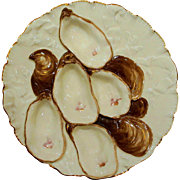 Antique Haviland Limoges Turkey Oyster Plate