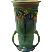 Roseville Pottery Green Baneda Arts and Crafts Vase