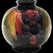 Vintage Moorcroft Pottery Leaf and Berry Vase