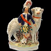 Staffordshire Figure Highlander with Large Sheep