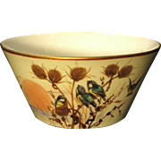 Royal Worcester Bowl Hand Painted Blue Birds among Thistles Dated 1886 - Red Tag Sale Item