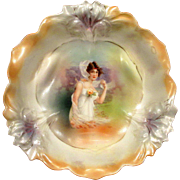 RS Prussia Fall Season Portrait Berry Bowl Mother of Pearl Satin Finish