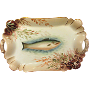 Antique Hand Painted Haviland Limoges Fish Platter