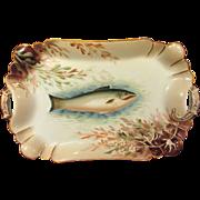 Antique Hand Painted Haviland Limoges Fish Platter