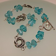 Greenish-Blue Apatite Sterling Silver Bracelet