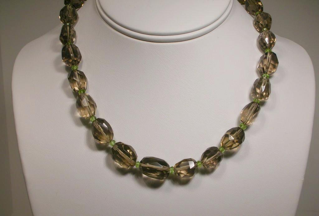 Smoky Quartz and Peridot Necklace