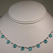 Sterling Silver Pear Apatite Necklace