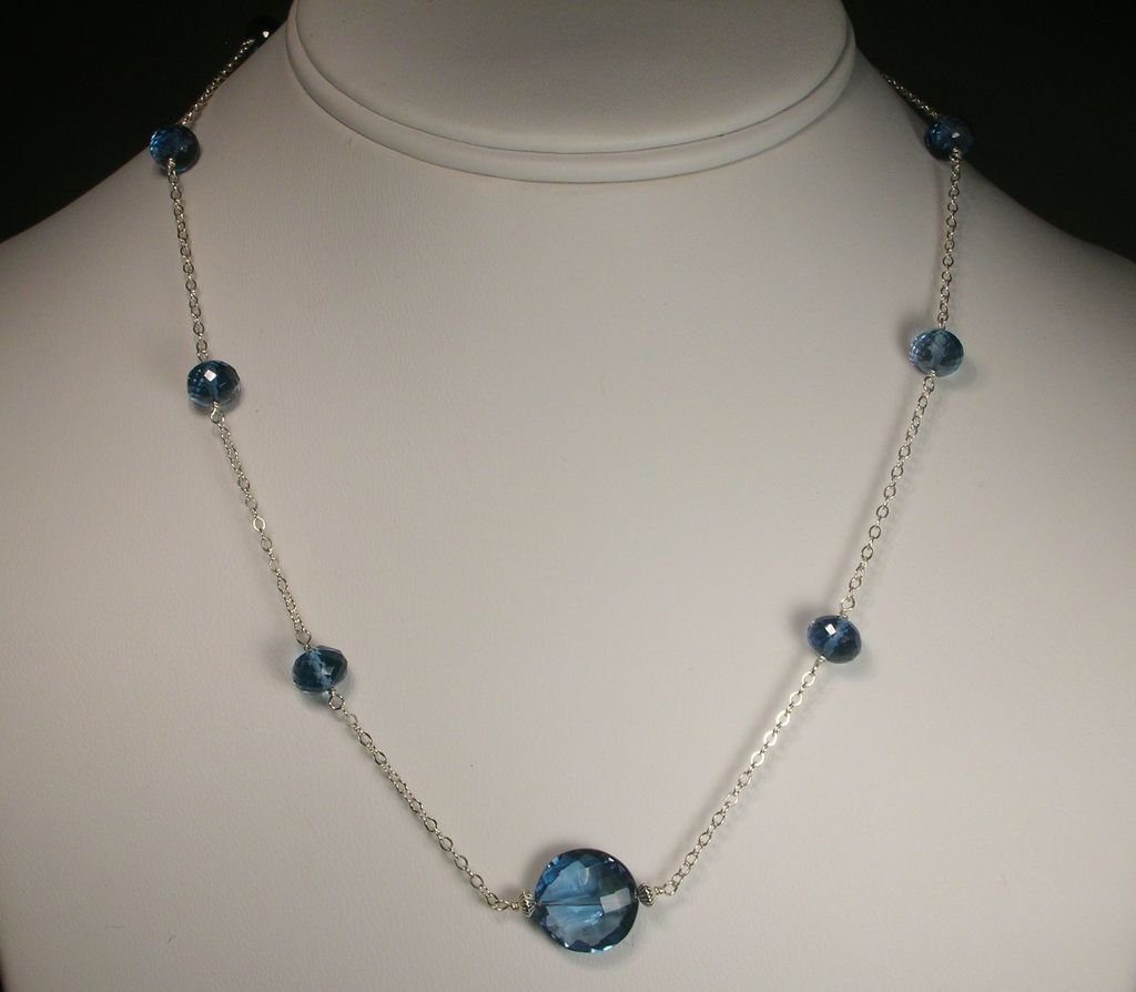 Sterling Silver London Blue Topaz Necklace