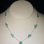 Sterling Silver Apatite Necklace