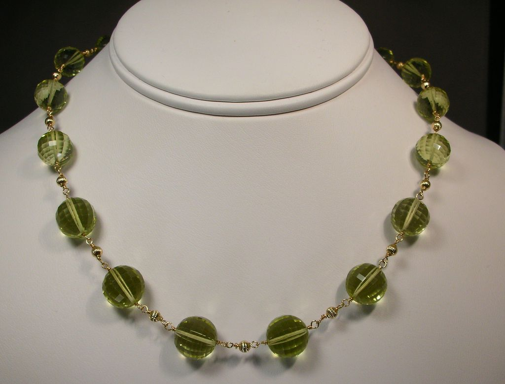 14kt Gold Fill Lemon Quartz Necklace