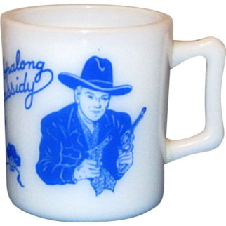 1950's Blue Hopalong Cassidy Mug Made By Hazel Atlas